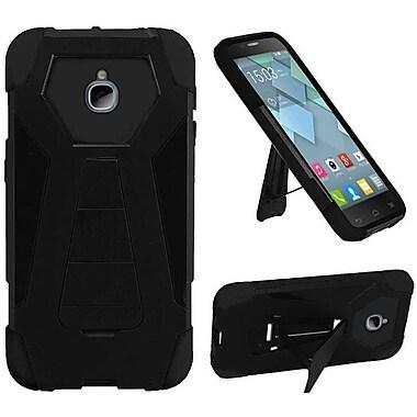 Insten Hard Hybrid Plastic Silicone Cover Case w/stand For Alcatel Acquire / Dawn / Streak - Black