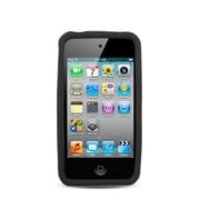 Insten Silicone Rubber Cover Case For Apple iPhone 4/4S - Black