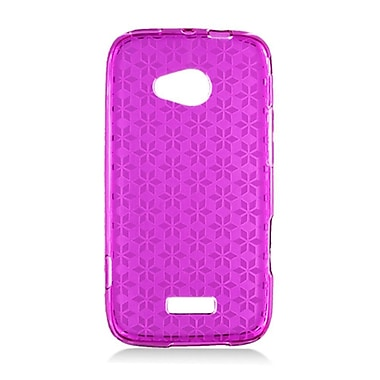 Insten Checker Gel Transparent Case For Samsung Galaxy Victory 4G LTE - Purple