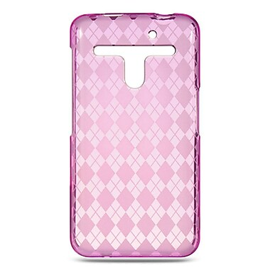 Insten Checker Gel Case For LG Esteem/Revolution - Hot Pink