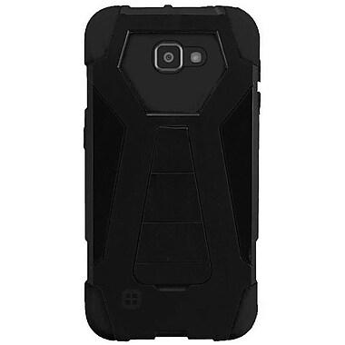 Insten Hard Hybrid Plastic Silicone Case w/stand For LG K4/Optimus Zone 3/Spree - Black