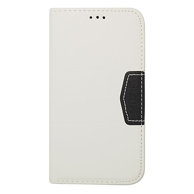 Insten Book-Style Leather Wallet Cover Case with Card slot For Samsung Galaxy S5 - White/Black