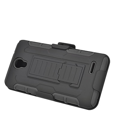 Insten Car Armor Stand Dual Layer Hybrid Case with Holster For ZTE Prestige - Black