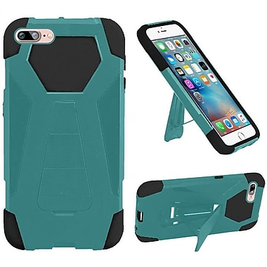 Insten Hard Hybrid Plastic Silicone Case w/stand For Apple iPhone 7 Plus - Teal/Black