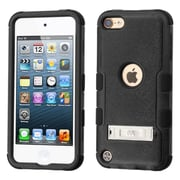 Insten Hard Dual Layer Rubber Coated Silicone Case with Stand For Apple iPod Touch 5th/6th Gen