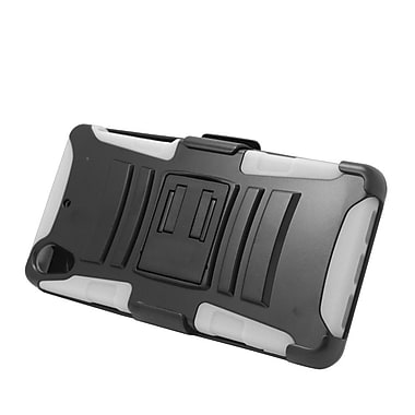 Insten Stand Dual Layer Hybrid Case with Holster For Sony Xperia Z2 - Black/White