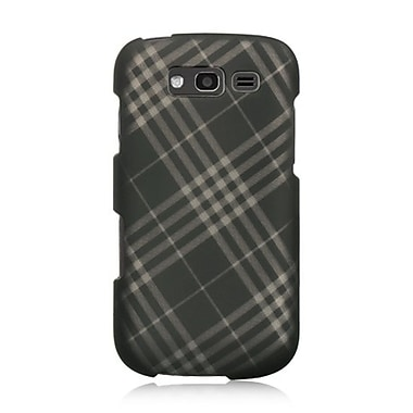 Insten Checker Hard Rubber Case For Samsung Galaxy S Blaze 4G - Smoke