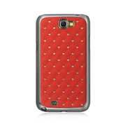 Insten Fish Scale Hard Case w/Diamond For Samsung Galaxy Note II - Red