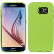 Insten Crystal Skin Tinted TPU Rubber Skin Gel Case Cover For Samsung Galaxy S6 - Green