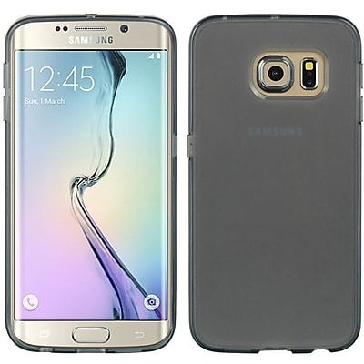 Insten Crystal Skin Tinted TPU Rubber Skin Gel Case Cover For Samsung Galaxy S6 Edge - Smoke 24097046