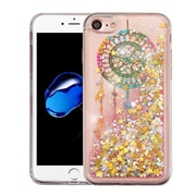 Insten Dreamcatcher Gold Stars Quicksand Glitter Hybrid Hard/TPU Protective Case Cover For Apple iPhone 7/ 8