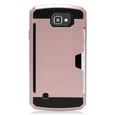 Insten Hard Hybrid Dual Layer TPU Case for LG Optimus Zone 3 / Spree - Rose Gold/Black