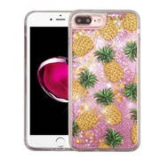 Insten Pineapple Pink (Stars) Quicksand Glitter Hybrid Hard/TPU Protective Case Cover For Apple iPhone 7 Plus