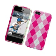 Insten Pink Argyle Hard Snap-in Back Protective Case Cover For Apple iPhone 5 / 5S