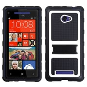 Insten White Gummy Armor Case Stand for HTC: Windows Phone 8X, 6990LVW (Windows 8X)