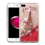 Insten Eiffel Tower Rose Gold Stars Quicksand Glitter Hybrid Hard/TPU Protective Case Cover For Apple iPhone 7 Plus