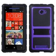 Insten Purple Gummy Armor Case Stand for HTC: Windows Phone 8X, 6990LVW (Windows 8X)