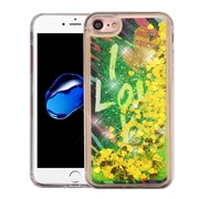 Insten I Love You Gold Hearts Quicksand Glitter Hybrid Hard/TPU Protective Case Cover For Apple iPhone 7
