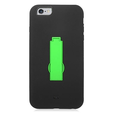 Insten Symbiosis Skin Dual Layer Rubber Hard Case For iPhone 6s Plus / 6 Plus - Black/Green