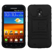 Insten Black/Black Advanced Armor Stand Case for SAMSUNG: D710 (Epic 4G Touch), R760 (Galaxy S II), Galaxy S II 4G