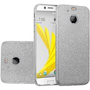 Insten Glitter Paper Hybrid Clear Hard PC/TPU Dual Layer Protective Case For HTC 10 EVO / Bolt - Smoke