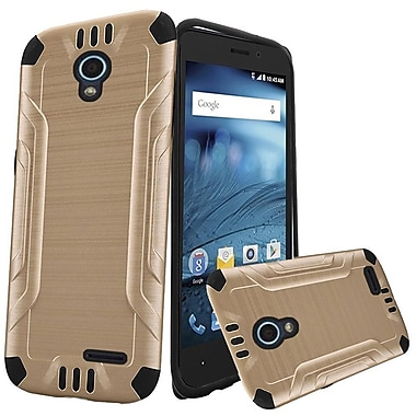 Insten Hard Hybrid TPU Cover Case For ZTE Avid / Cheers / Trio - Gold/Black