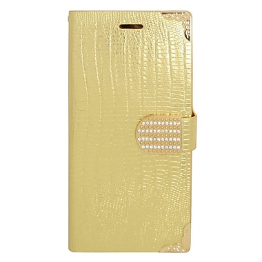 Insten Flip Wallet Leather Case with Card slot & Diamond For iPhone 6s Plus / 6 Plus - Gold
