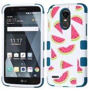 Insten Wedges-Summer Fruit/Turquoise TUFF Hybrid Phone Protective Cover Case [Military-Grade Certified] For LG Stylo 3