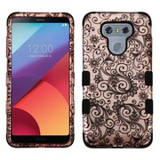 Insten Four-Leaf Clover (Gold)/Black TUFF Hybrid Phone Protective Cover Case [Military-Grade Certified] For LG G6