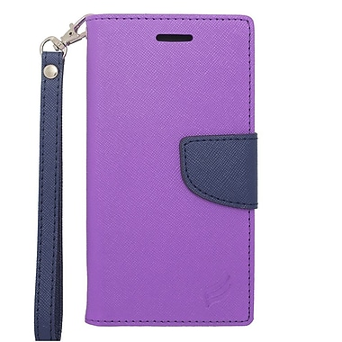 Insten Leather Cover Case with Photo Display & Lanyard For Apple iPhone 6s / 6 - Purple/Blue