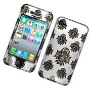Insten Skull Hard Case For Apple iPhone 4/4S - White/Brown
