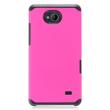 Insten Dual Layer Hybrid Rubberized Hard TPU Shockproof Case Cover For ZTE Tempo - Hot Pink/Black