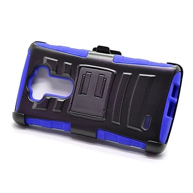Insten Hard Hybrid Plastic Silicone Stand Case with Holster For LG G Flex 2 - Black/Blue