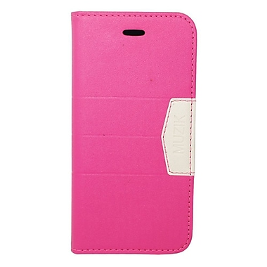 Insten Flip Leather Wallet Fabric Case with Card slot For Apple iPhone 6s / 6 - Pink