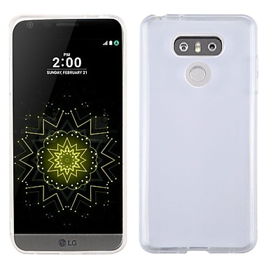 Insten Glossy Transparent TPU Candy Skin Gel Rubber Back Case Cover For LG G6 - Clear