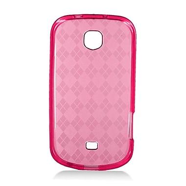 Insten Checker Rubber Clear Case For Samsung Galaxy Stellar 4G I200 - Red