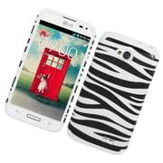 Insten Zebra Hard Dual Layer Silicone Case For LG Optimus Exceed 2 VS450PP Verizon/Optimus L70/Realm - White/Black
