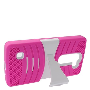 Insten Wave Symbiosis Rubber Dual Layer Hard Stand Case For LG Escape 2 - Hot Pink/Black