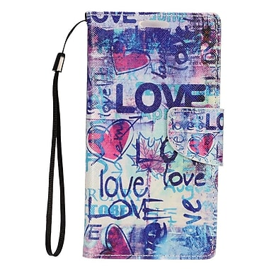 Insten Love Leather Cover Case with Photo Display & Lanyard For Samsung Galaxy S7 - Colorful