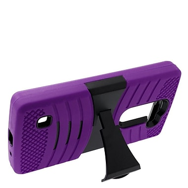 Insten Wave Symbiosis Soft Hybrid Rubber Hard Stand Case For LG Escape 2 - Purple/Black