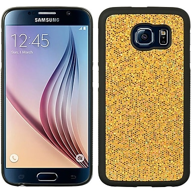 Insten Glittering Hard Glitter Cover Case For Samsung Galaxy S6 - Gold/Black