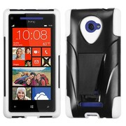 Insten White Inverse Advanced Armor Stand Case for HTC: Windows Phone 8X, 6990LVW (Windows 8X)