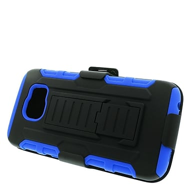 Insten Car Armor Stand Dual Layer Hybrid Case with Holster For Samsung Galaxy S6 - Black/Blue