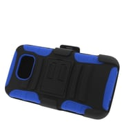 Insten Stand Dual Layer Hybrid Case with Holster For Samsung Galaxy S6 - Black/Blue