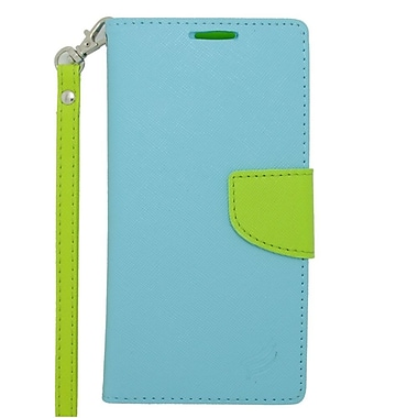 Insten Leather Cover Case with Photo Display & Lanyard For ZTE Warp Sync - Light Blue/Green