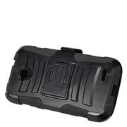Insten Hard Dual Layer Plastic Silicone Stand Case with Holster For ZTE Allstar - Black
