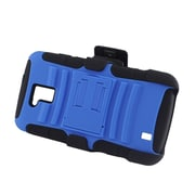 Insten Advanced Armor Dual Layer Hybrid Stand PC/Silicone Holster Case Cover for ZTE Force N9100 - Blue/Black