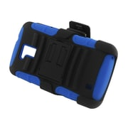 Insten Advanced Armor Dual Layer Hybrid Stand PC/Silicone Holster Case Cover for ZTE Force N9100 - Black/Blue