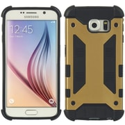 Insten Amour Hybrid Hard PC/TPU Dual Layer Case For Samsung Galaxy S6 - Black/Gold
