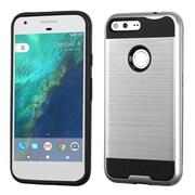 Insten Hard Hybrid TPU Case For Google Pixel XL - Silver/Black